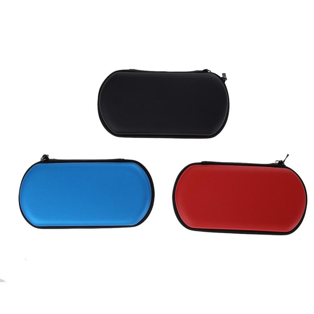 EVA caja de almacenamiento de reproductor de juegos de mano funda protectora de consola de juegos duro bolsa de transporte con cremallera de correa para Sony Playstation Vita PSP