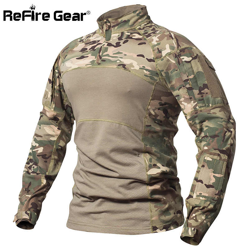 Details about  /Tactical Combat Shirt Camo Long Sleeve Special Force Military Clothing
