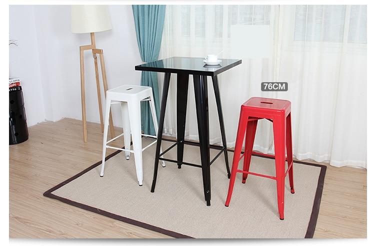 Stile industriale metallo cucina sala da pranzo sedie sgabello