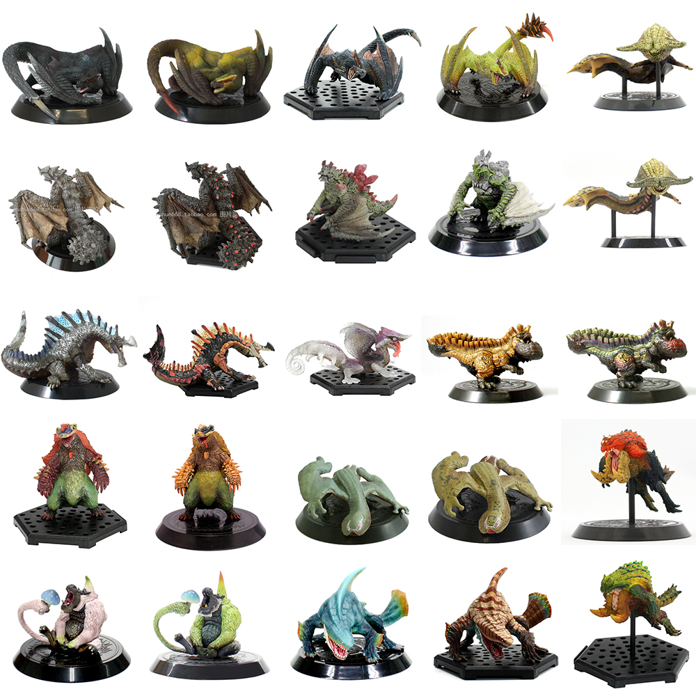 25-49 Jimusuhutu Japan Video Games Nargakurga Action Figures Toy Capcom Monster Hunter Gravimos Furfur Aoashira Collection Model