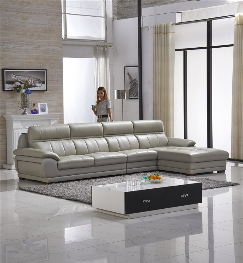 grey color leather sofa for apartment