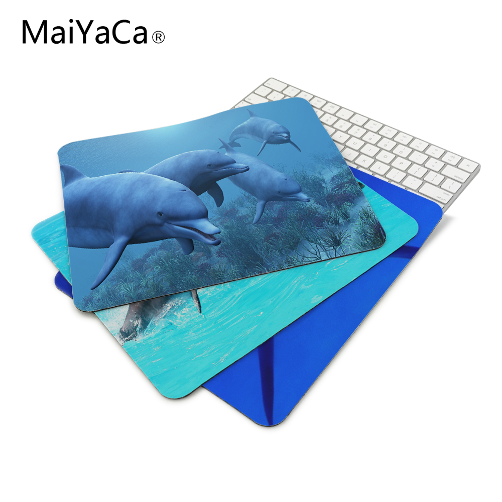 MaiYaCa Dolphins Under the Sea Mouse Pads Computer Gaming Mouse Mat 18*22cm,20*25cm,25*29cm Non-Skid Soft Rubber Mousepad maiyaca new small size computer desktop game marble lines mouse pad non skid rubber pad20x20cm and 22x22cm mouse pads