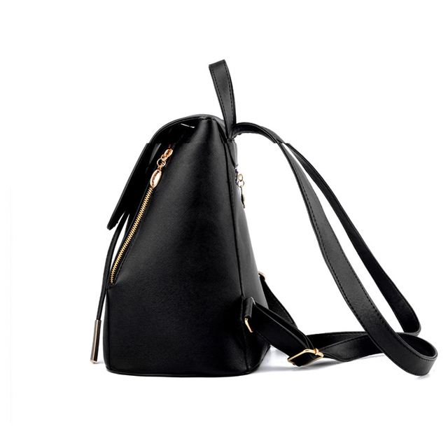 Fashion Style School Backpack Artificial Leather Women Shoulder Bag Floral School Bag for Teens Girls 4