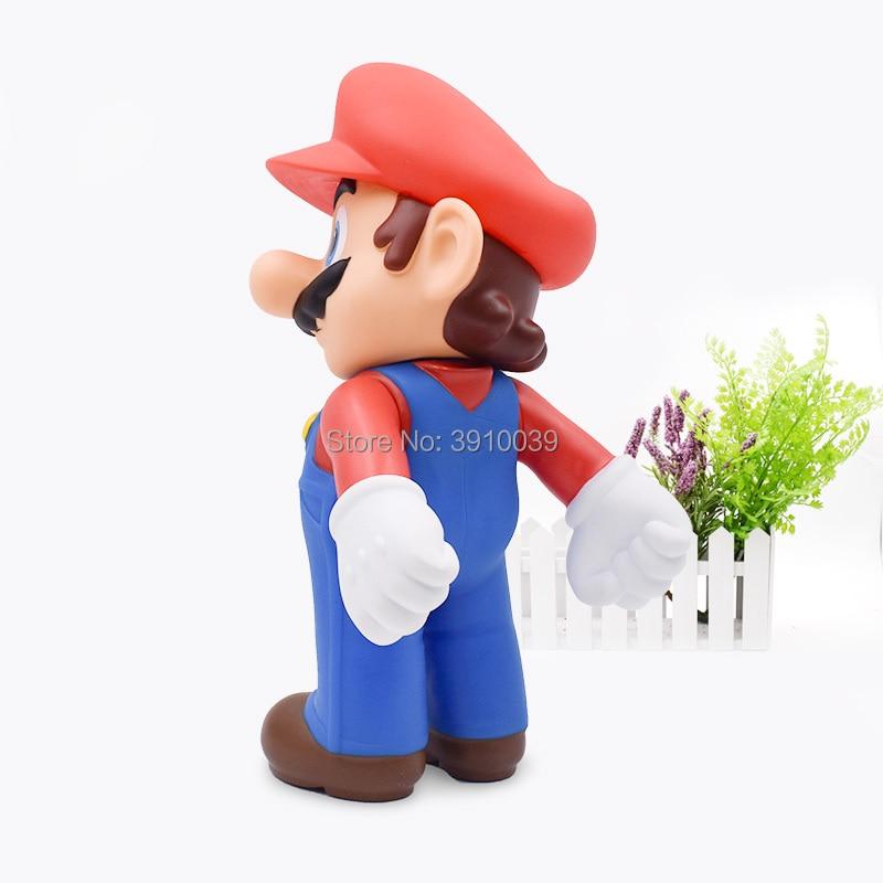 Gran tamaño 22 cm Super Mario Bros Mario Luigi Yoshi PVC figura de ...