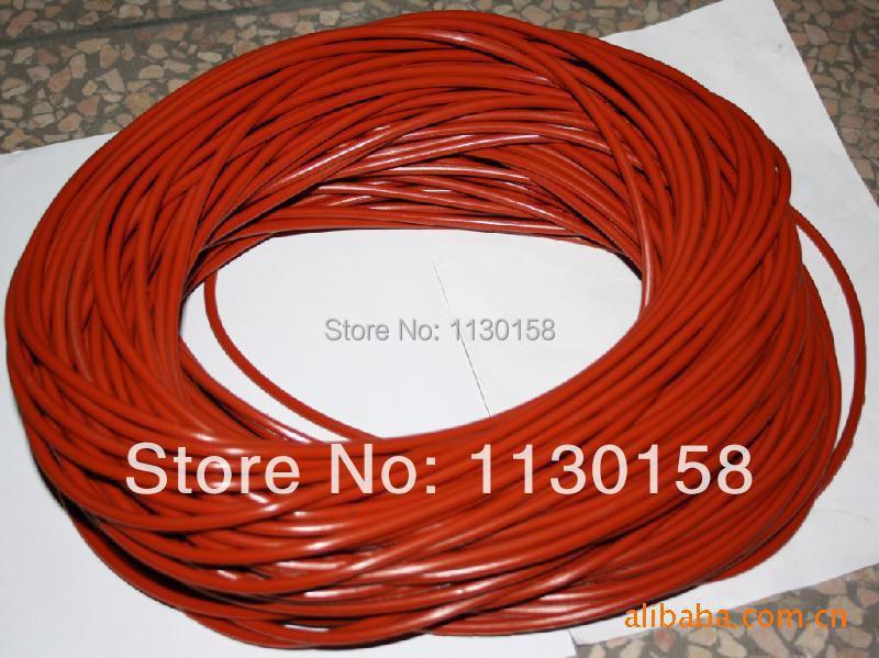 Diameter 18.0mmx1meter Length Silica Rod Silicon Cord Silicone Bar, Milky White & Red Color