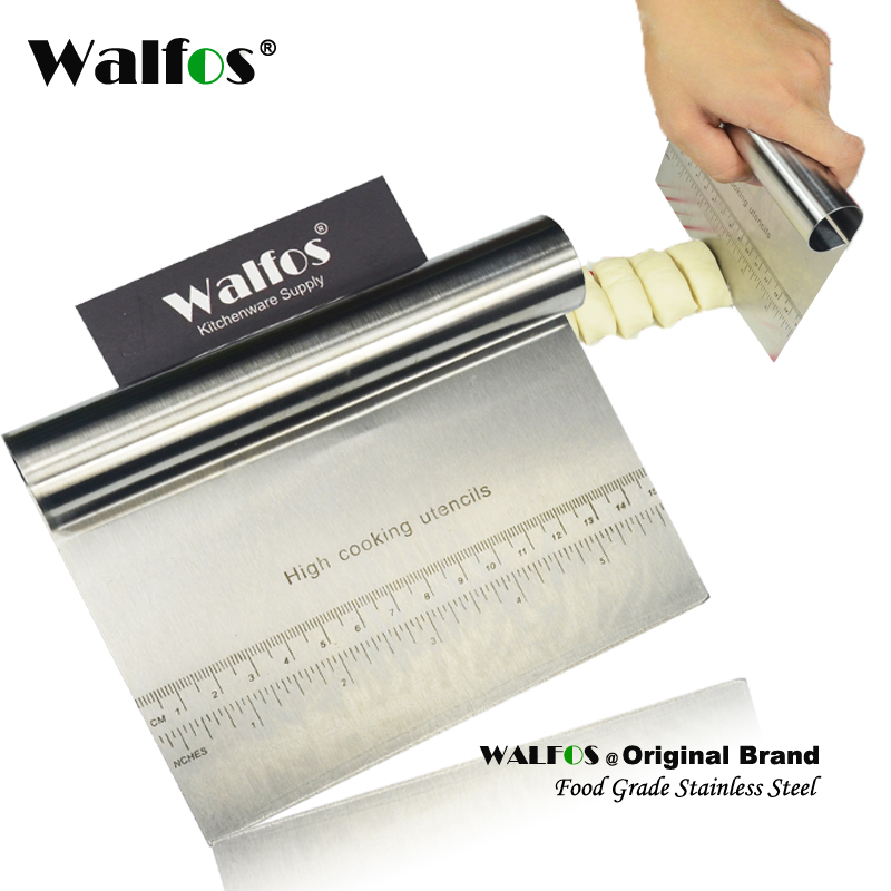 WALFOS Stainless Steel Smoother Scrater spatula Pizza Dough Scraper Scrater Cutter Miell pastë pasta Vegël tortash