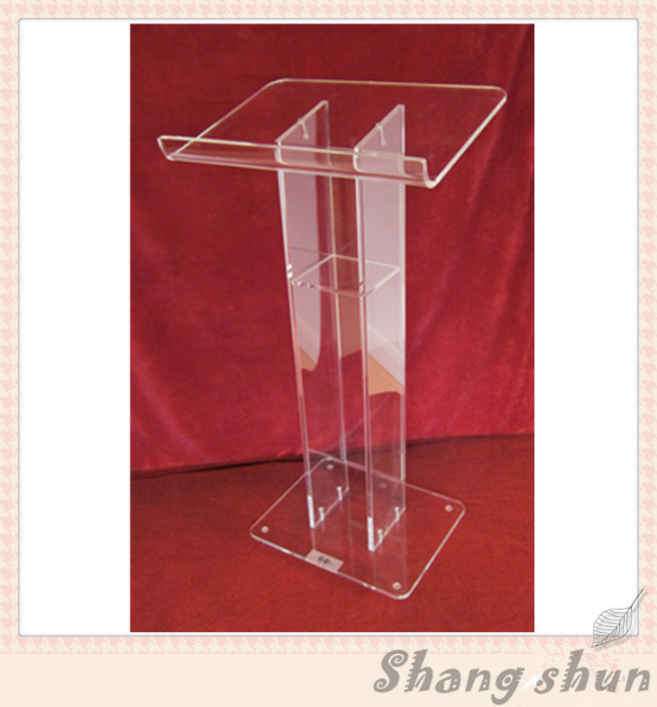Transparent Church Lectern Clear Modern Stable Lucite/Acrylic Lectern/Church Pulpit
