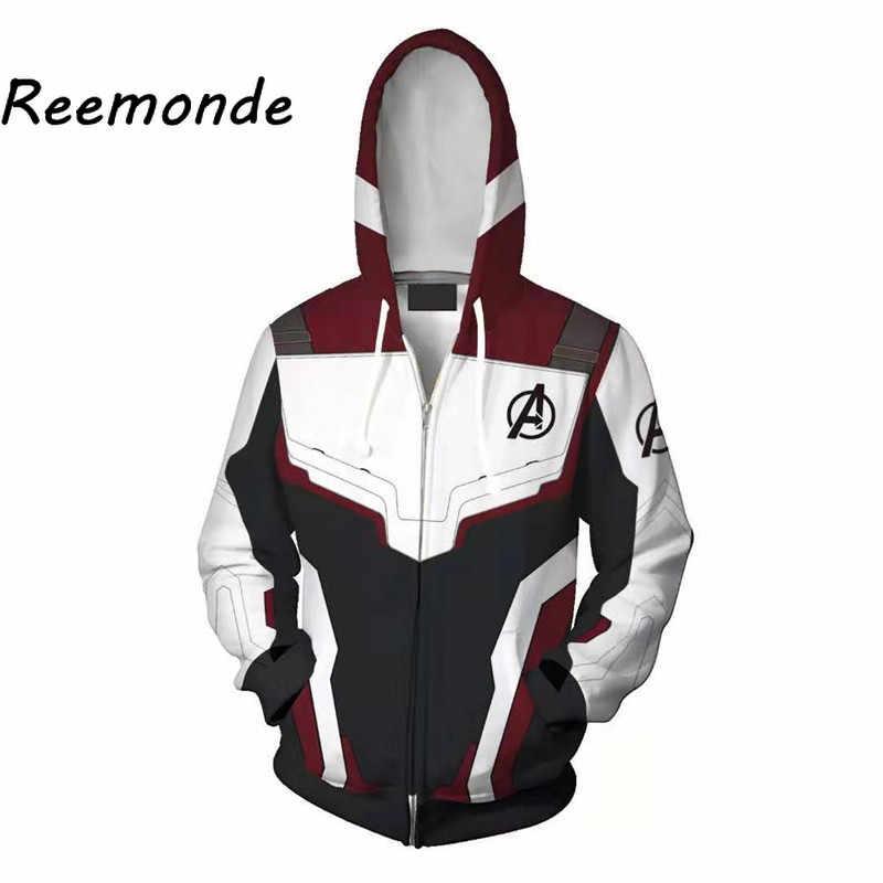 パーカー男性のための Endgame 衣装パーカートレーナーレディースパーカープルオーバージッパージャケット 3d プリント長袖コートトップス