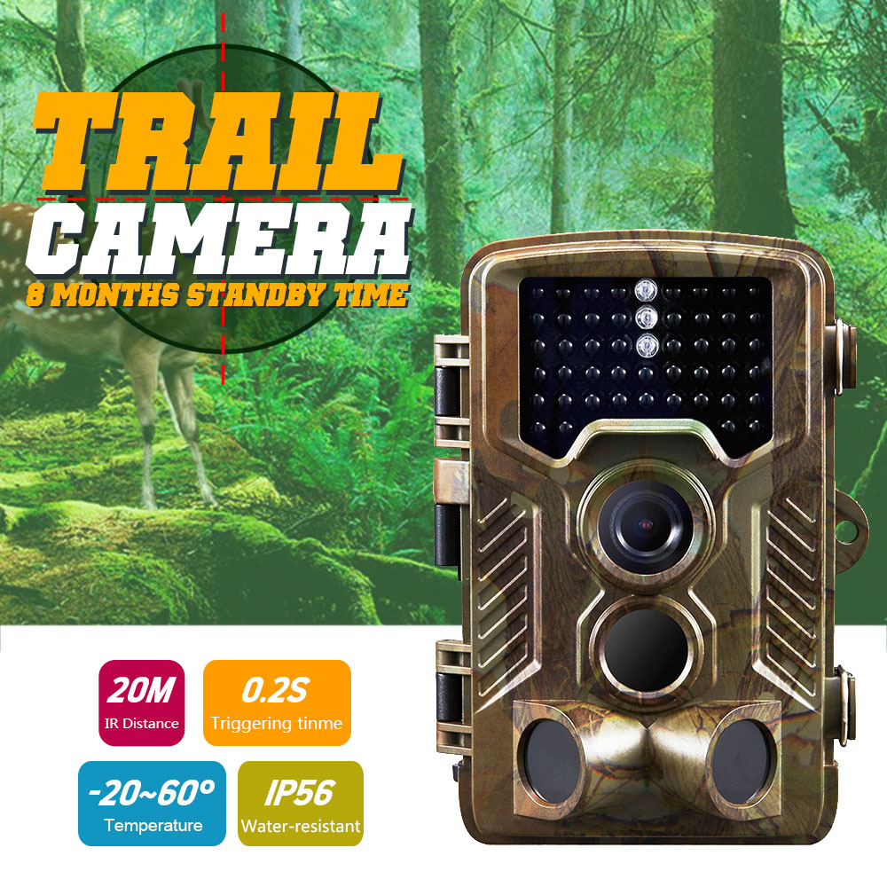 12MP 1080P Wildlife Hunting Camera Photo Traps with 120 Wide Angle Animal Surveillance Camera Night Vision Trail Cameras цена и фото