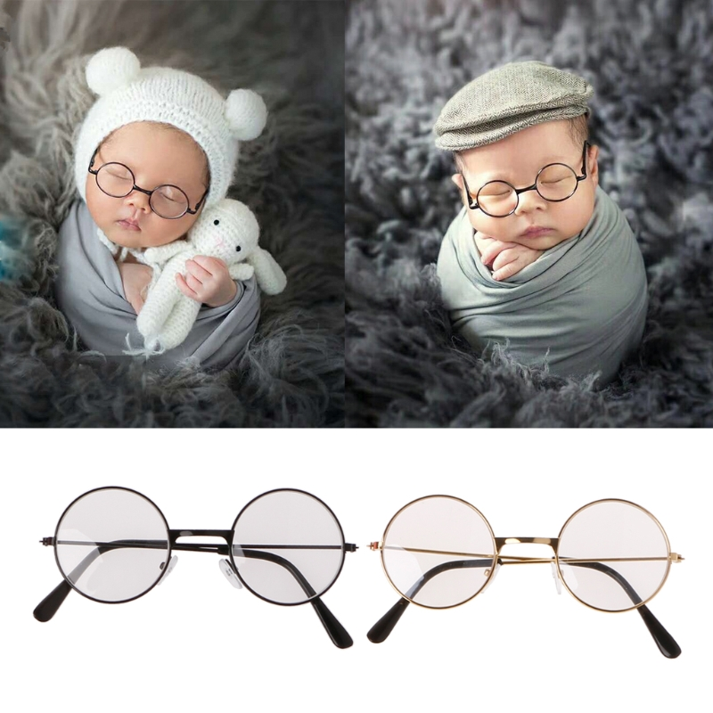 High Quality Newborn Baby Girl Boy Flat Glasses Photography Props Gentleman Studio Shoot  MAY4-A