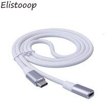 Elistooop 유형 C 유형 c USB 3.1 남성 USB C 여성 확장 데이터 케이블 Macbook 용 연장 코드 1m