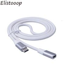 Elistooop סוג C כדי סוג c USB 3.1 זכר USB C נקבה הארכת נתונים כבל מאריך כבל 1m עבור macbook