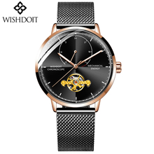 WISHDOIT NEW Watch Men Luxury Brand Tourbillon Automatic Mechanical Watches Make Casual Business Relogio Masculino