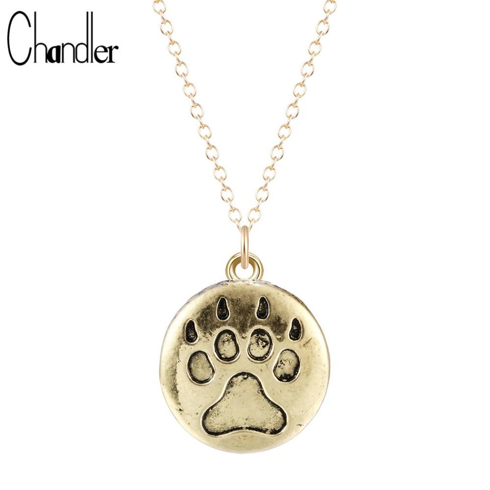 Stylish Elegant Necklace For Dog Lover Footprint  Dog Paw Pendant Jewelry