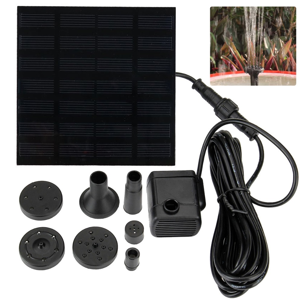 Solar Panel Powered Water Feature Pump Garden Pool Pond Aquarium Fountain Solar Panel Powered Water Feature Pump Garden Pool Pond Aquarium Fountain