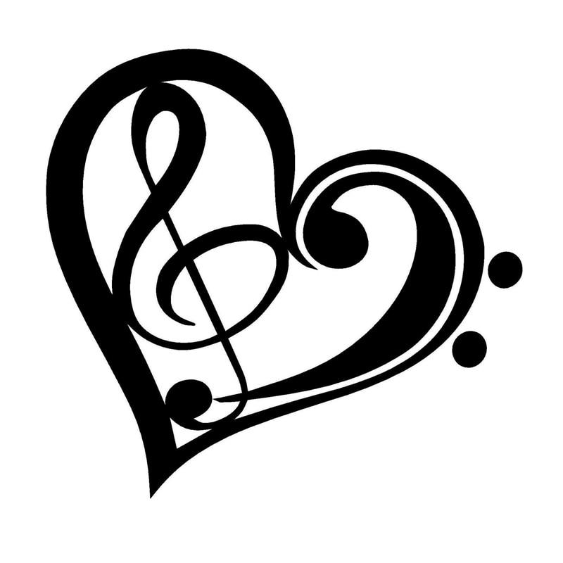 """I Love Disco Heart Music Car Bumper Sticker Decal 5/"""" x 5/"""""""