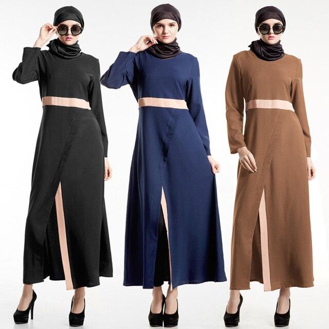 Muslimische Frauen Kleid Islamisches Abaya Trend Türkische Jilbab ...