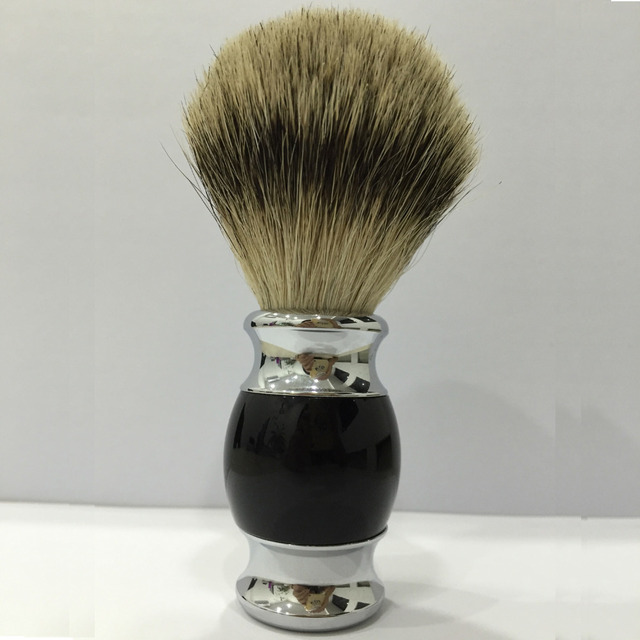 Soft Shaving Brush Badger Hair Men's Black Handle Chorme Plate Male Face Beard Shaving Brush Cleaning Care