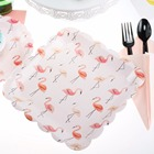 Riscawin 10 pcs 9inch Flamingo Birthday Wedding Party Supplies Decoration Cake Dish Disposable Paper Plates Baby Shower Favors