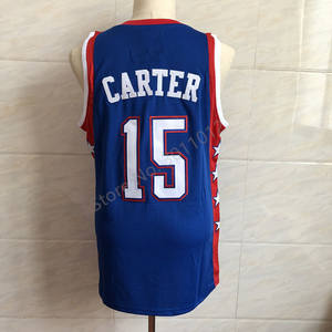 01dc60b1f Men s Eastern Conference  15 Vince Carter Blue 2004 All Star Basketball  Jersey