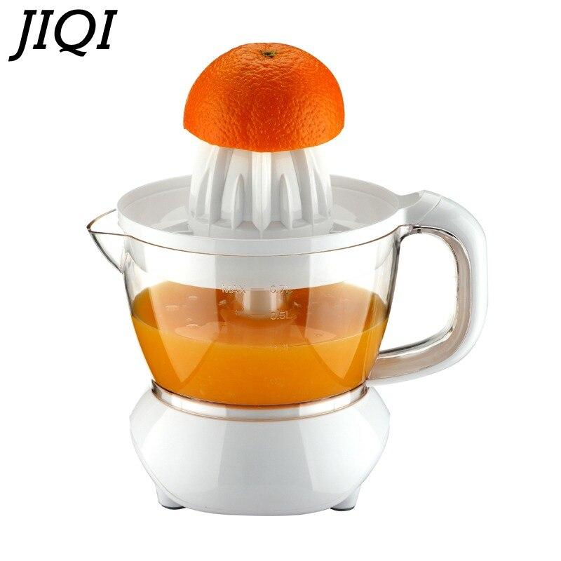 JIQI 220 V exprimidor eléctrico naranjas/Mandarinas/cítricos/limón/jugo de pomelo máquina exprimidor de naranja