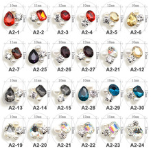 5pcs New Crystal Colourful/AB Nail Rhinestone Alloy Nail Art Decorations DIY Glitter Diverse K9 Nail Jewelry Manicure Supplies