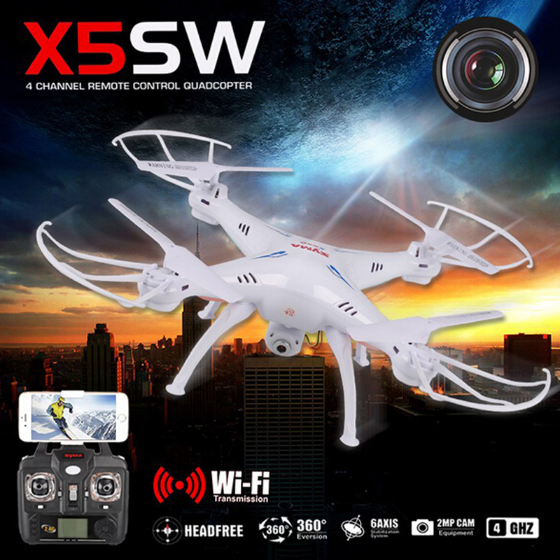 Original SYMA X5SW WIFI RC Drone Quadcopter with FPV Camera Headless 6-Axis Real Time Helicopter Quad copter Toys Flying Dron wltoys q222 quadrocopter 2 4g 4ch 6 axis 3d headless mode aircraft drone radio control helicopter rc dron vs x5sw