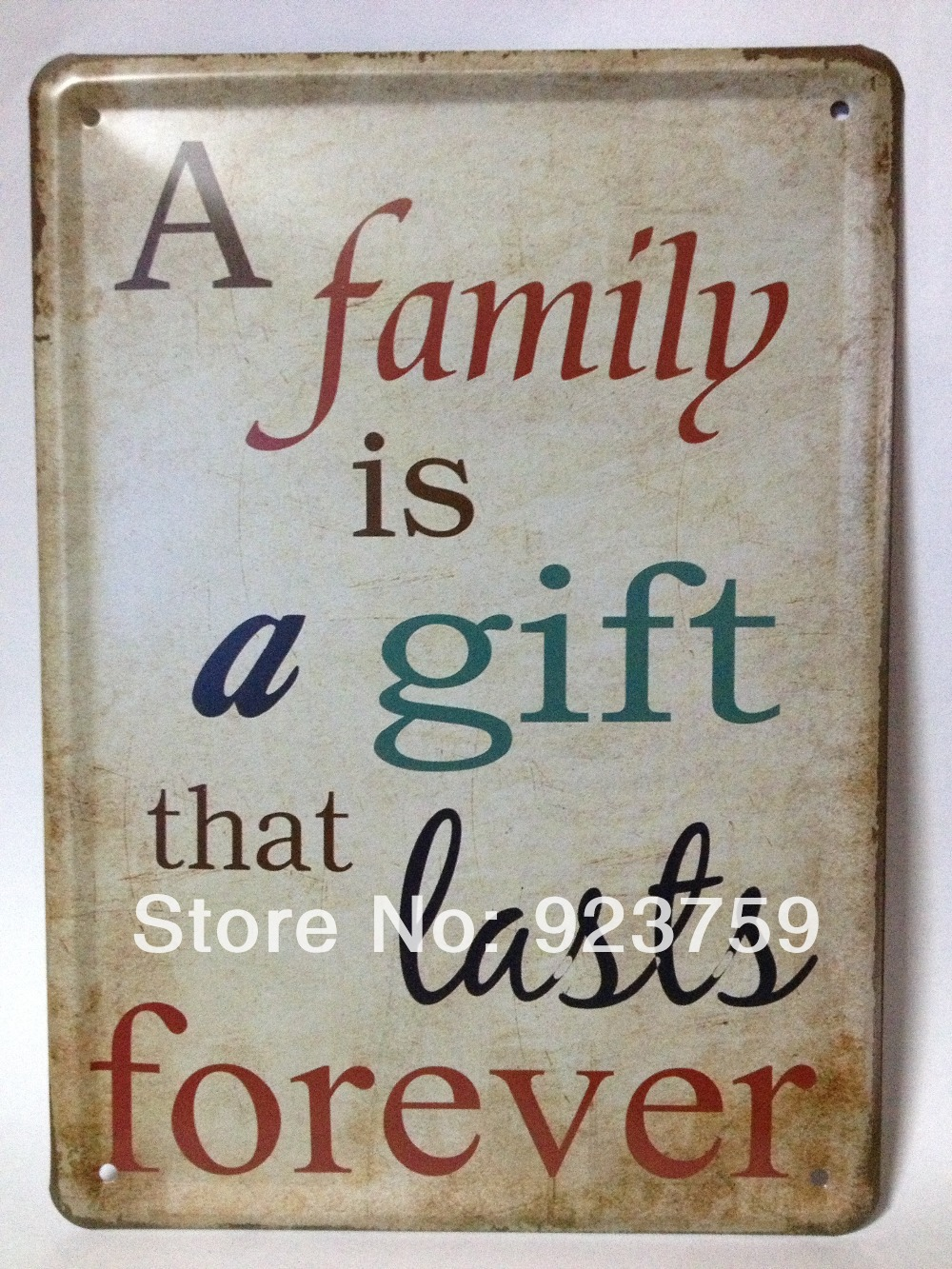 Country house wall decor - 15x21cm A Family Is A Gift Last Forever Country Style Vintagetin Sign Bar Pub Home House
