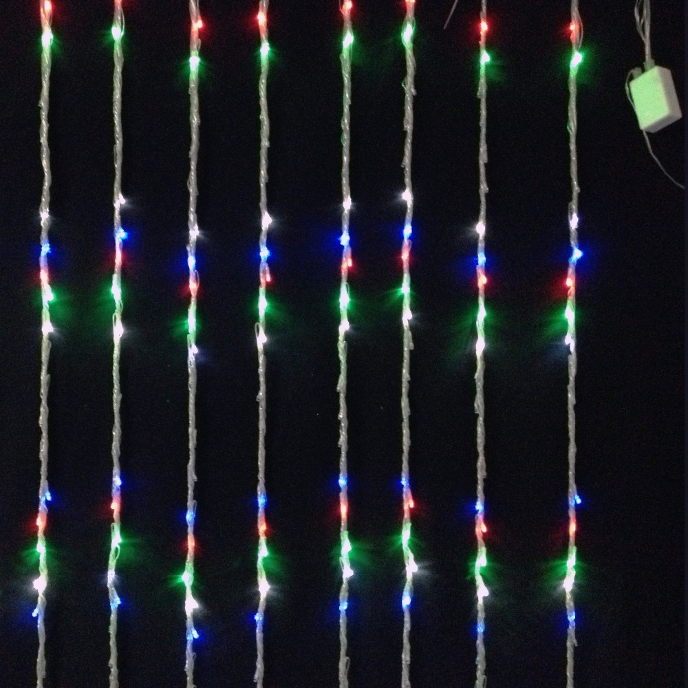 Christmas window decorations lights - 16w Holiday Window Decoration Lighting 400pcs Led Bulbs Waterfall Curtain Light 2 Meter X 2 Meter