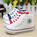 New Classic Children Canvas Shoes Trainer Lace-Up Strap High Top Boys Girls Sneakers for Kids Casual Sports Shoes Eur 23-37