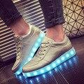Hombre Mujeres de la Bandera de Impresión Zapatos de La Luz LED de Carga USB Colorido Amante de la luz Zapatos de Los Holgazanes de 8 Modo de Luz Más Tamaño 35 ~ 44. FL-A81