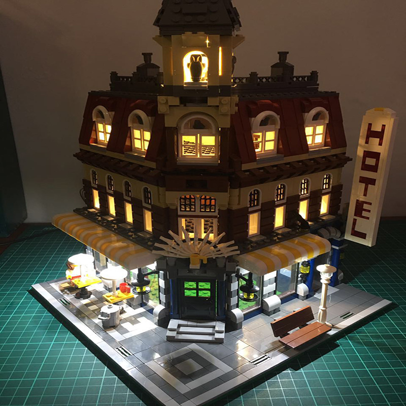 Led Light Set For Lego Building City Street 10182 Cafe Corner Model Toys Compatible 15002 Blocks Creator City Street Lighting    (3)