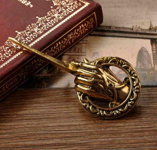 Vendita calda Per Il Game of Thrones Mano del Re Risvolto Replica Brillante di modo Confortevole Emblema Spille Spilla