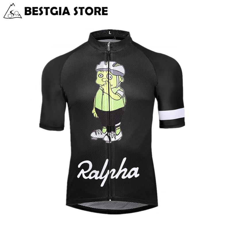 2017 Nový vlastní Cyklistický dres Kreslený design kolo Jersey MTB Silniční kolo dres muž ženy rychlé suché krátké cyklistické oblečení