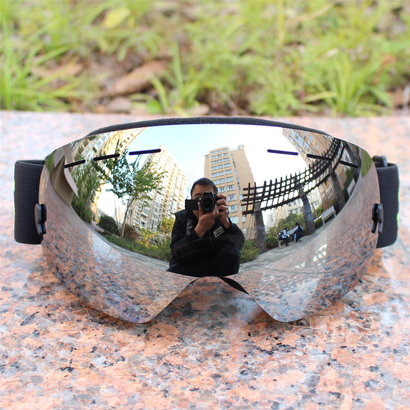 De esquí profesional gafas capas lente adultos anti-niebla UV400 de esquí gafas esquí snowboard de Las mujeres de los hombres de nieve gafas 025 4 colores