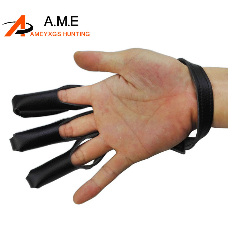 Archery Finger Hand Guard Glove For Target Recurve Bow Shooting Hunting
