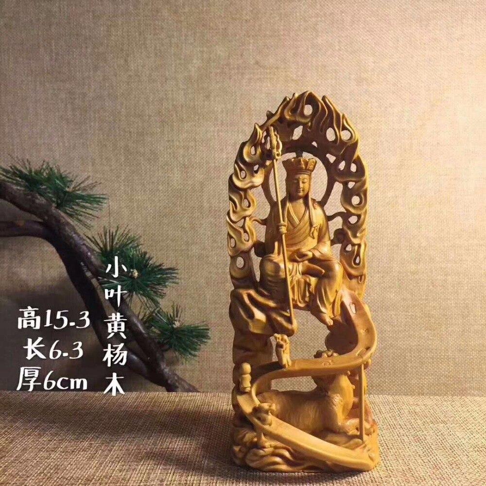 TNUKK le nouveau roi du bois de cyprès sculpté artisanat exécution exquise, conception vierge, emballage de boîte-cadeau.