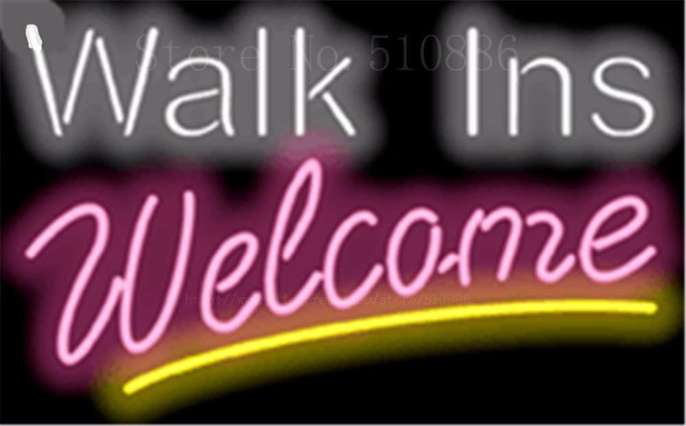 Designer Walk Ins Welcome Businese Tube Neon sign Beer Club Pub ...