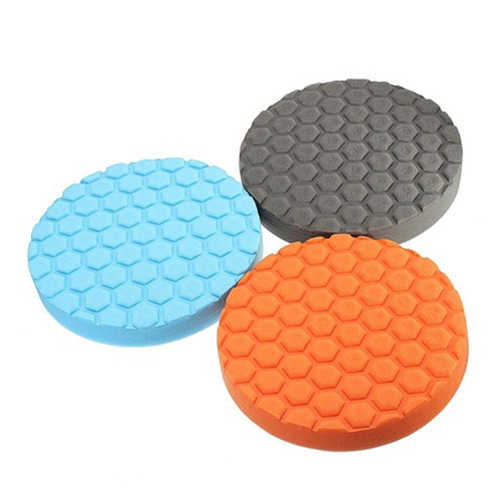 3x Hex-Logika Buff Buffering Polishing Pad Kit untuk Mobil Polisher 3/4/5/6/7 inch Xmas