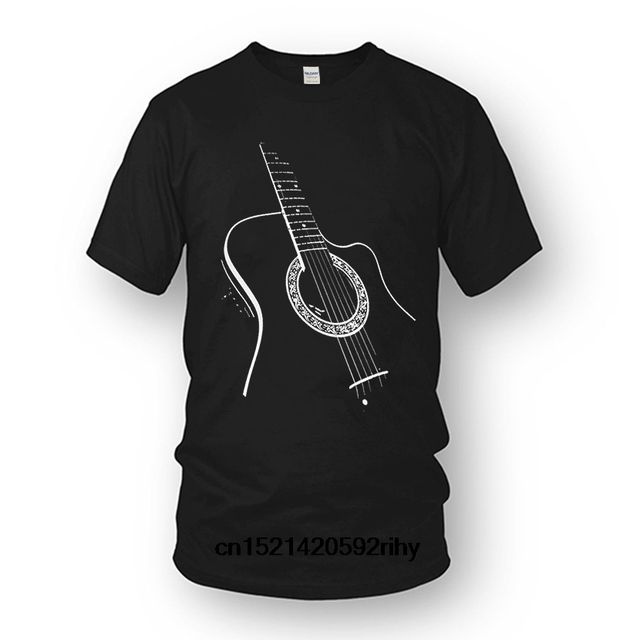 fa8999d7 Gildan Summer Short Sleeves Fashion T Shirt Free Shipping Acoustic Guitar  Men Print Haus T-shirt