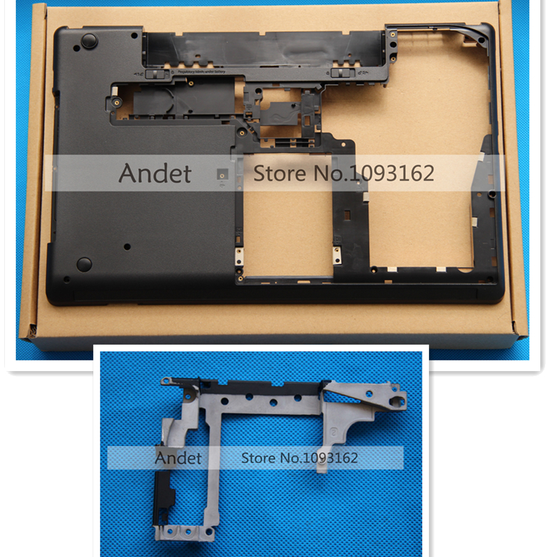 new orginal Lenovo ThinkPad E530 E535 15W Bottom Base Cover Lower Case + Hinge Set 04W4110 AM0NV000700 new orig for ibm lenovo e530 e535 e530c e545 15w bottom case cover 04w4110 04w4111 ap0nv000l00