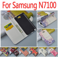 Leather Case For Samsung Galaxy Note 2 N7100 N7000 Flip Cover Case Housing For Samsung Note2