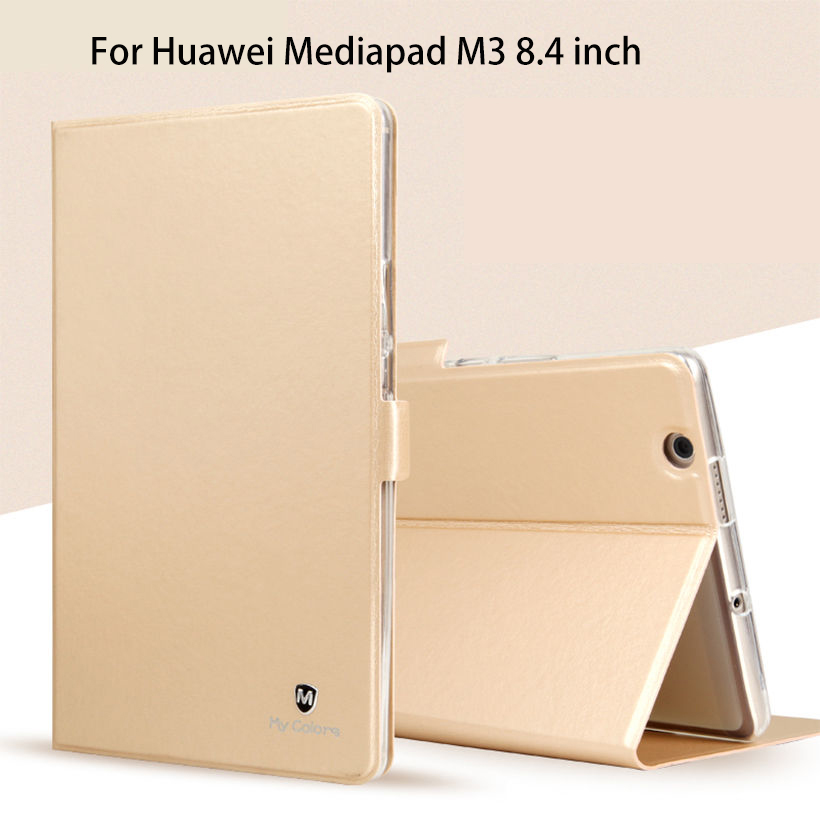 цены Silicon+PU Leather Case For Huawei MediaPad M3 BTV-W09 BTV-DL09 8.4 inch Smart Sleep Case Cover Tablet Flip Shell Funda Capa