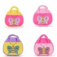 Gloveleya Plush Cartoon 3D Butterfly For Kids Handbag Baby Girls Shoulder Bag Messenger Bags For Boys