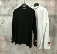 Heron Preston Men T Shirts Long Sleeves Collar Embroidery T Shirt O Neck Cotton HP Tees High Street Hip Hop Heron Preston Tshirt
