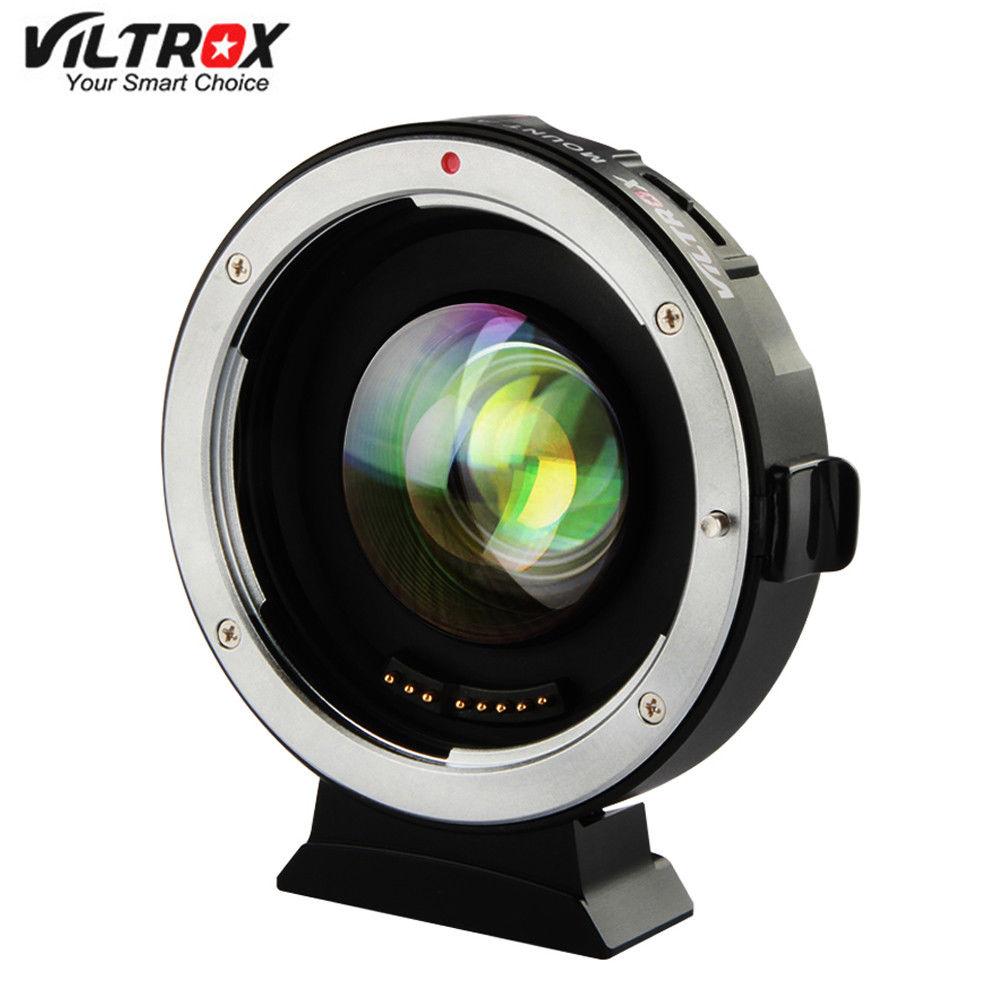 JINTU nouveau VILTROX 0.71X EF-M2 AF Auto Focus réducteur vitesse Booster Turbo adaptateur W/Port USB pour Canon EF EF-S objectif à M43 caméra