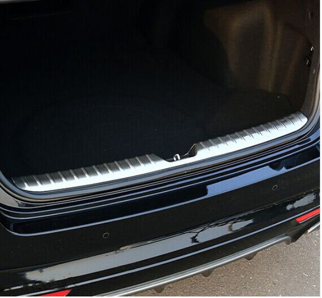 HOT ACCESSORIES FIT FOR KIA OPTIMA K5 2016 JF INNER REAR BUMPER PANEL PROTECTOR TRUNK BOOT DECK CARGO SILL COVER PLATE THRESHOLD