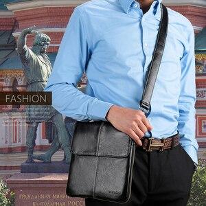Image 5 - VORMOR Bolso cruzado de cuero de moda para hombre, bandolera de hombro, de diseñador informal, pequeño