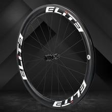 Elite FLR углеродное волокно колесо для дорожного байка 25/27 мм обод Tubular бескамерная клинчерная покрышка 700c колесная с прямыми выдвижными низкое сопротивление концентратора