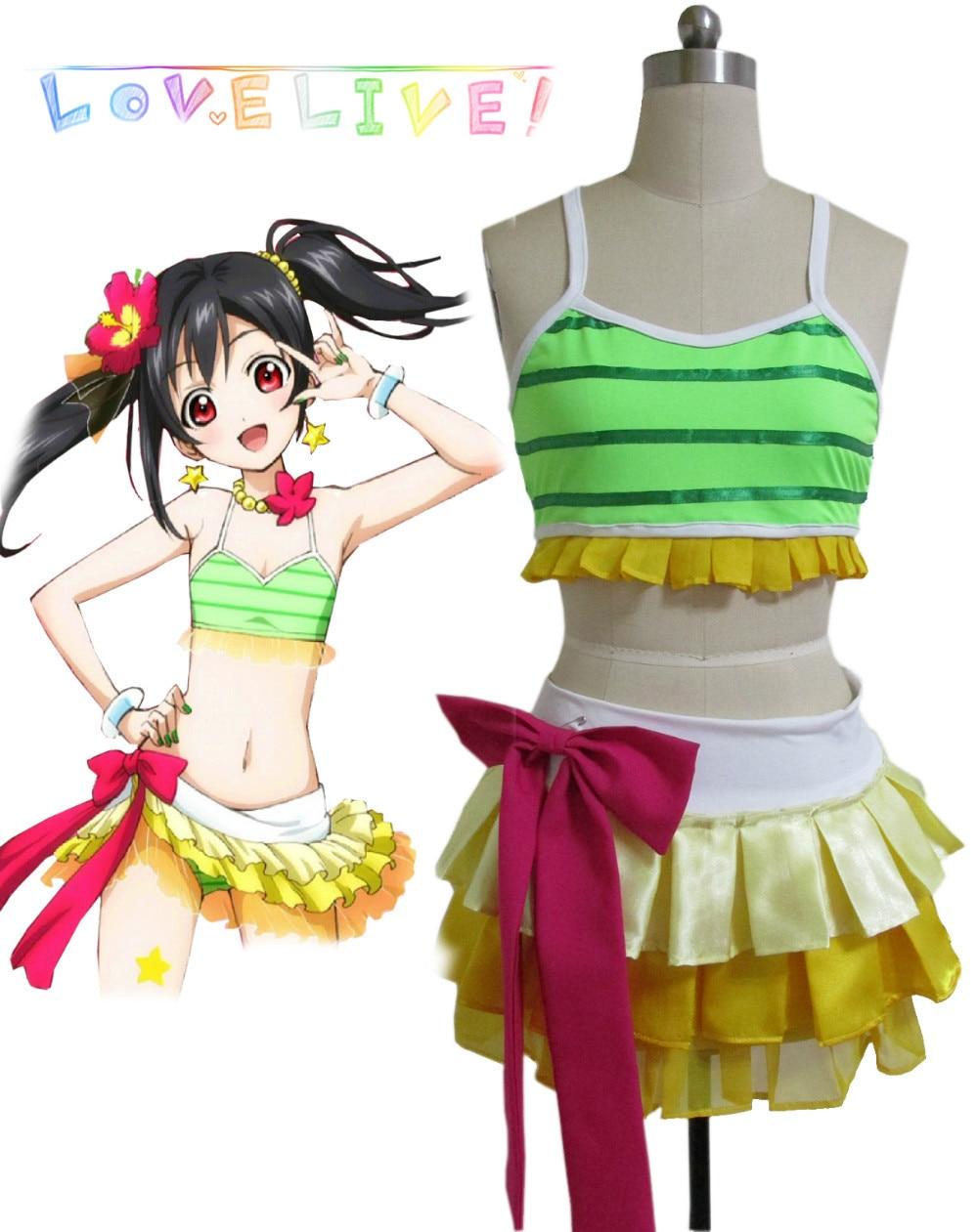 Free Shipping Love Live! School Idol Project Yazawa Niko Swimsuit Anime Cosplay Costumes